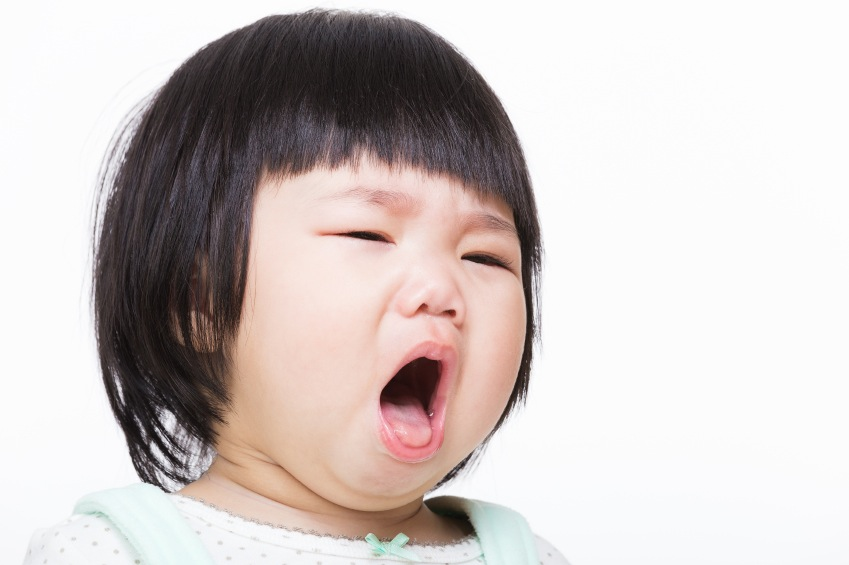 child yawning
