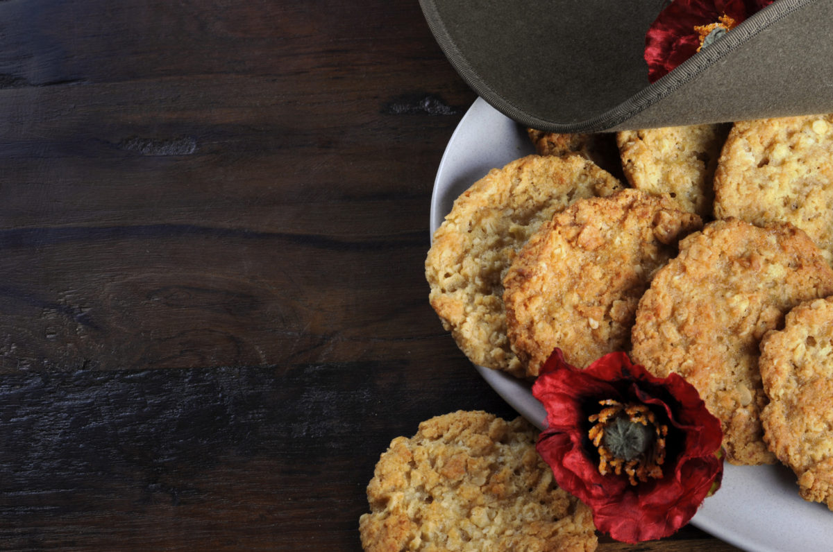 ANZAC Biscuits with ANZAC Hat