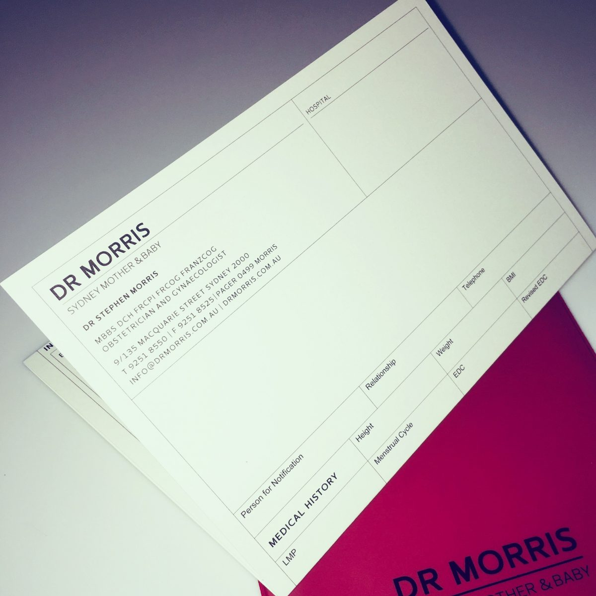 Dr Morris referral letter
